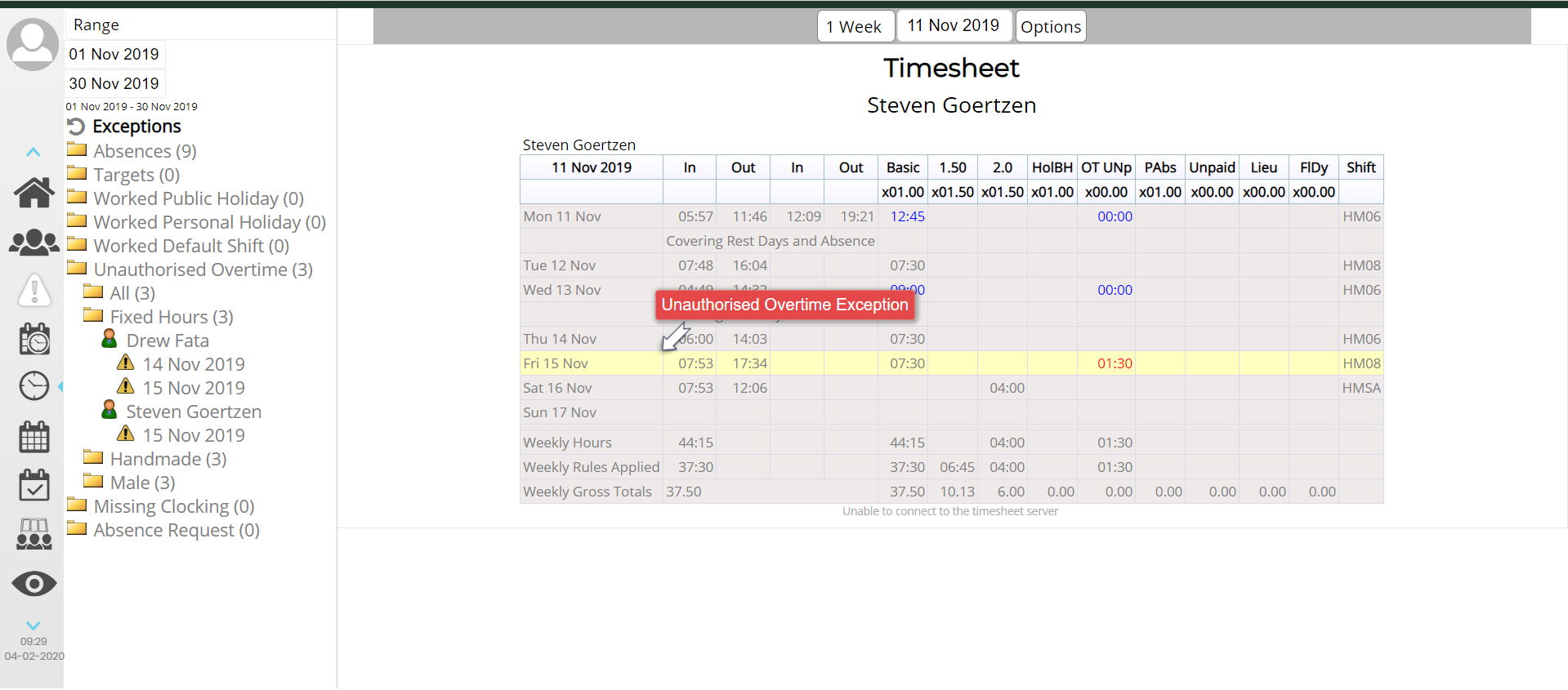 Overtime Tracking Software